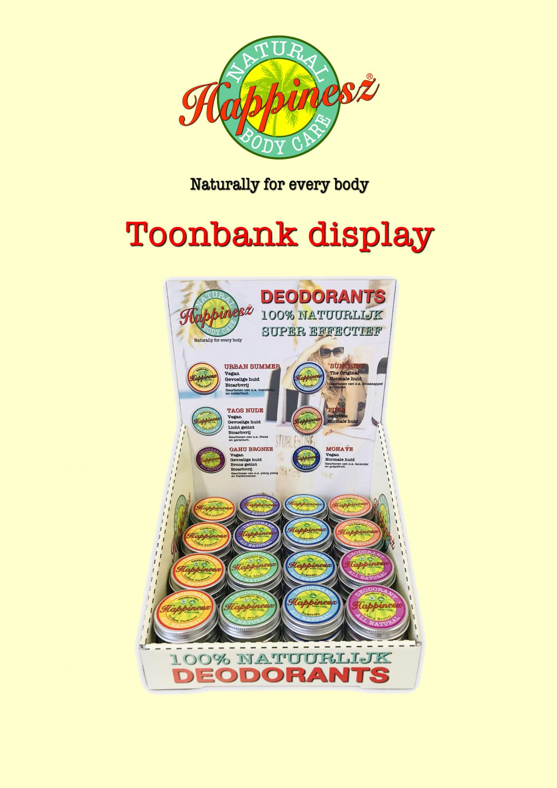 Happinesz Deodorant Counter Display